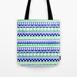 Blue Green Purple Pattern Tote Bag