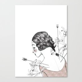 Flowers and arrows Canvas Print