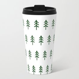 Hand drawn forest green trees Travel Mug