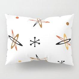 Atomic Era Space Age Orange Brown White Pillow Sham