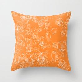 Bubbles Neck Gator Orange Bubbles Throw Pillow