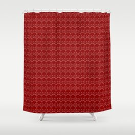 kitty pattern print in red Shower Curtain