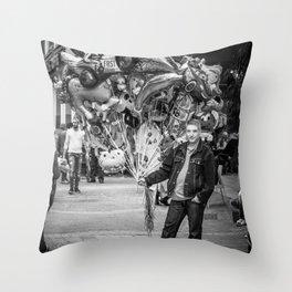 The balloon man II Throw Pillow