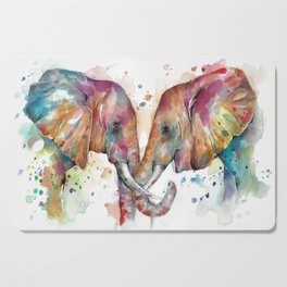 Sunset Elephants Cutting Board