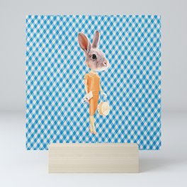 Bunny Person Mini Art Print