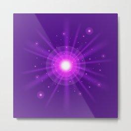 purple light effect Metal Print