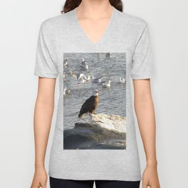 Eagle on Ice Unisex V-Neck