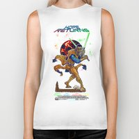 returns Biker Tanks featuring Hope Returns by Artless Arts