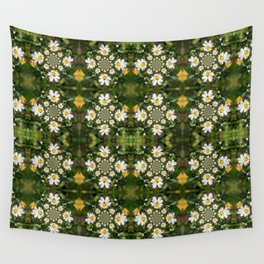 Magic Field Summer Grass - Chamomile Flower with Bug - Polarity #1 Wall Tapestry