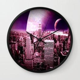 New New York : Galaxy City Wall Clock