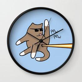 Cat Butt Laser Wall Clock