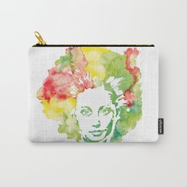 Emotional Girl Watercolor Print - Clown Carry-All Pouch