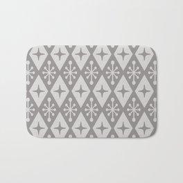 Mid Century Modern Atomic Triangle Pattern 711 Gray Bath Mat
