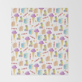 Birthday Girl Pattern Throw Blanket