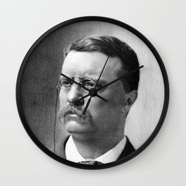 President Theodore Roosevelt Wall Clock