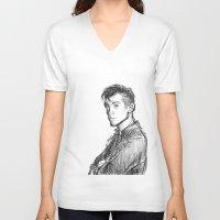 alex turner V-neck T-shirts featuring alex turner [2] by roanne Q