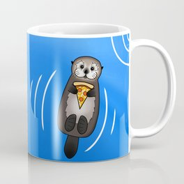 Sea Otter with Pizza Coffee Mug