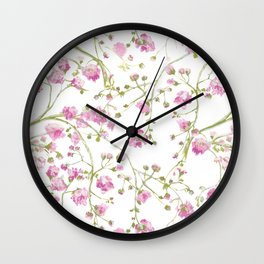 Pink floral Wall Clock
