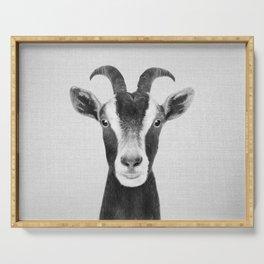 Goat - Black & White Serving Tray