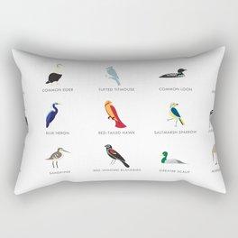 Cape Cod Birds: A Minimalist Field Guide Rectangular Pillow