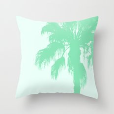 Mint Palms Throw Pillow