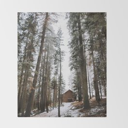 Cabin in the Woods Throw Blanket