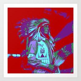 Indian Chief Pop Art Art Print