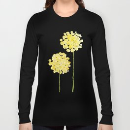 two abstract dandelions watercolor Long Sleeve T-shirt