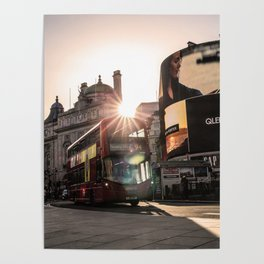 ArWork Bus Piccadily Sunset London ArtPhoto Art Poster