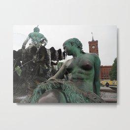 Neptunbrunnen Metal Print