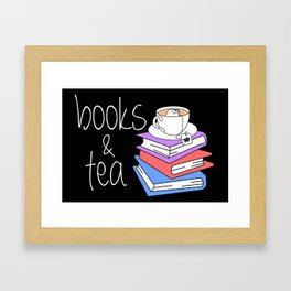 Bookworm Books and Tea - Inverted Framed Art Print