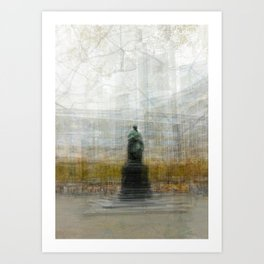 Impressionist image of Goethe Statue, Frankfurt, Germany Art Print