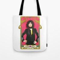 marc johns Tote Bags featuring Marc Bolan by Saoirse Mc Dermott