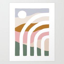 Daylight Color Block Art Print