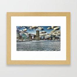 inner harbor Framed Art Print
