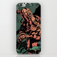 diver iPhone & iPod Skins featuring Diver by Rafael T. Pimentel