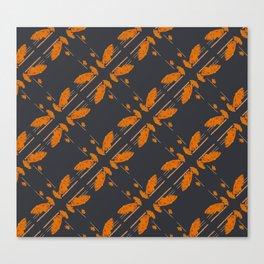 Orange chamomiles Canvas Print
