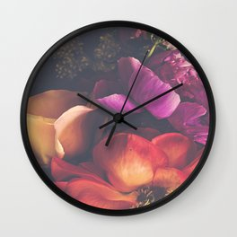 Color Burst Florals Wall Clock