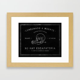 Condenado A Muerte - Black Framed Art Print