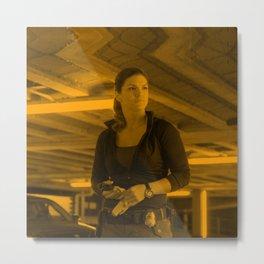 Gina Carano - Celebrity (Action Pose) Metal Print