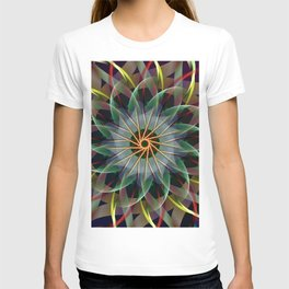 Perfectly swirling ribbons, fractal abstract T-shirt