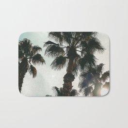 Palm Tree Art Print {1 of 3} | Teal Pastels Topical Beach Plant Nature Vacation Sun Vibes Artwork Bath Mat