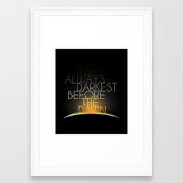 Shake It Out Framed Art Print