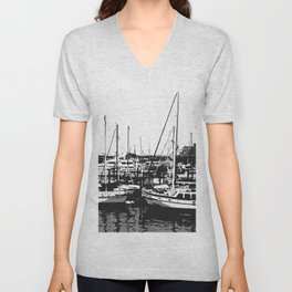 the sea and the ship Unisex V-Neck