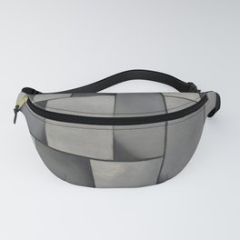 Theo van Doesburg - Composition in Gray - Rag-Time - Abstract De Stijl Painting Fanny Pack