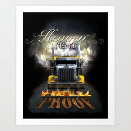 Heaven Sent T-Shirt Design  Art Print