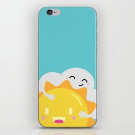 Partly Cloudy and Partly Sunny Love iPhone Skin
