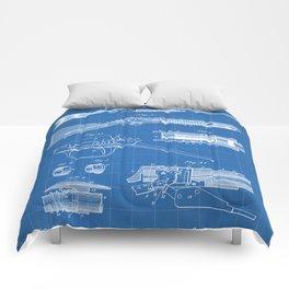 Automatic Rifle Patent - Browning Rifle Art - Blueprint Comforters