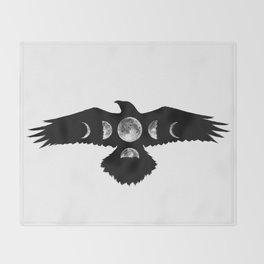 Celestial Crow Throw Blanket