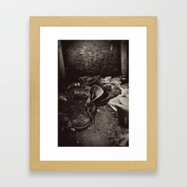 Decaying Boots Framed Art Print